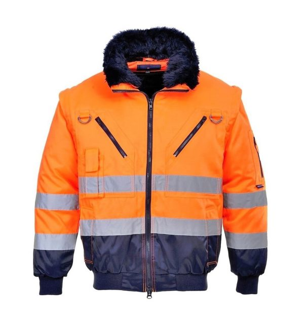 orange-portwest-hivis-3in1-pilot-jacke