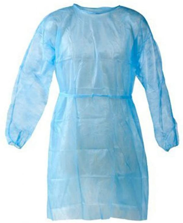 isolation gown blue